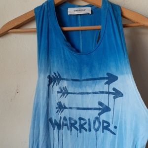 Soulcycle racerback tank top Blue Ombre Warrior M